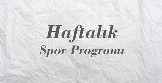 Haftalık Spor Programı