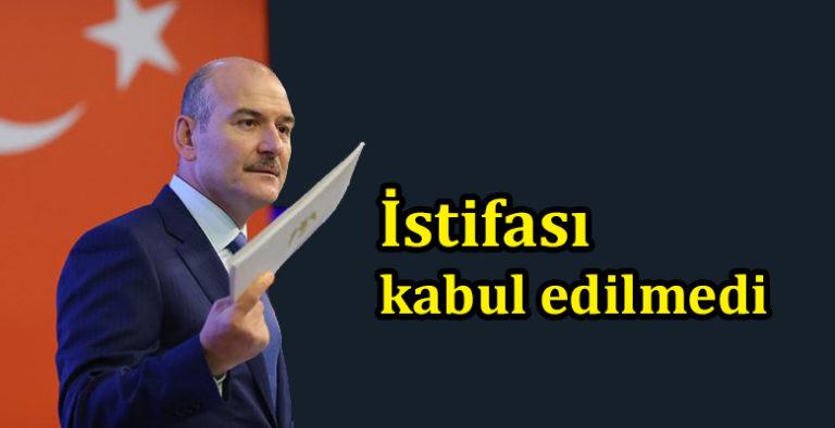 Başkan Erdoğan istifayı kabul etmedi