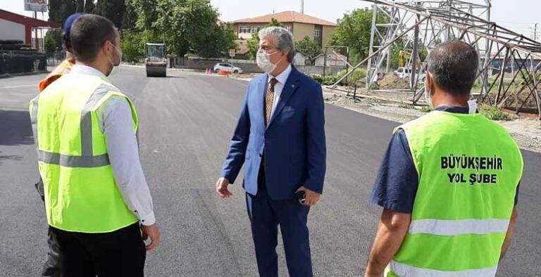 Topça bölgesinde 2 bin 850 ton sıcak asfalt serildi