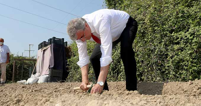 Tohumları Başkan Yüce serpti