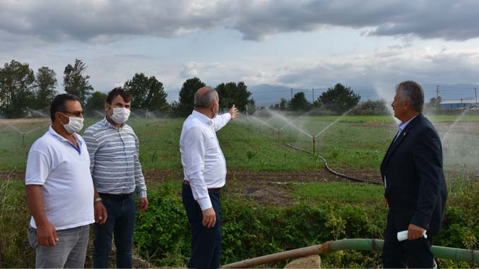 Başkan Kılıç tarım arazilerini gezdi
