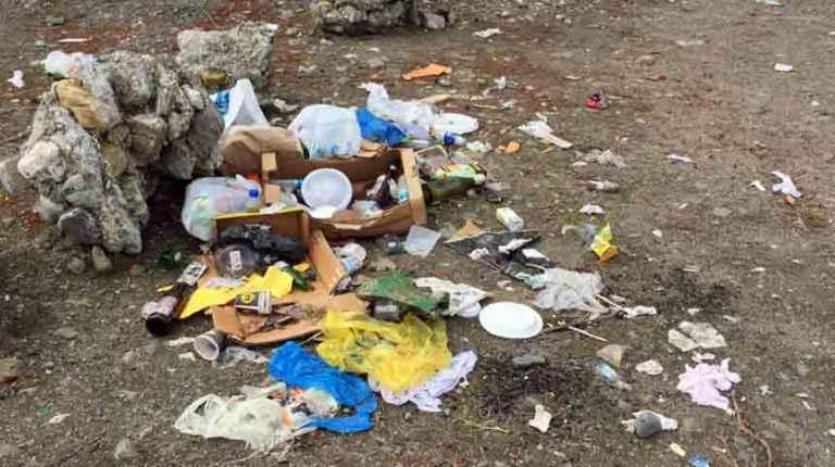 Sapanca Gölü çevresinden 10 poşet çöp toplandı